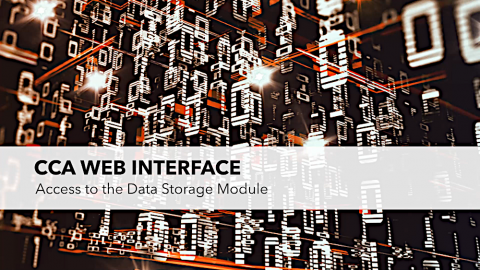 Video: CCA Web Interface - Access to the data storage, english